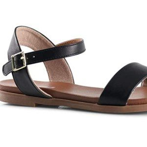 Women's thick bottom low laminated sandals